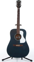 Music Memorabilia:Instruments , 2000s Gretsch Historic Series G3537 Teal Acoustic Guitar Serial #311291154....
