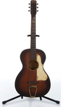 Music Memorabilia:Instruments , 1930s First National Institute of Allied Arts Sunburst Acoustic Guitar No Serial Number....