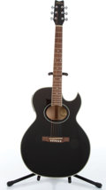 Musical Instruments:Acoustic Guitars, 2004 Washburn ES9B Black Electric Acoustic Guitar Serial#SC03040529....