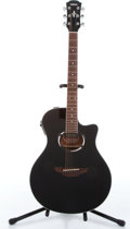 Musical Instruments:Acoustic Guitars, 1998 Yamaha AXP500 Black Electric Acoustic Guitar Serial# OMK096091....