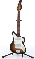 Musical Instruments:Electric Guitars, Teisco 3/4 Student Sunburst Electric Guitar Serial# N/A. ...