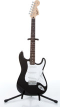 Musical Instruments:Electric Guitars, 2003 Squier By Fender Strat Affinity Black Electric Guitar Serial#IC030609259....