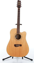 Music Memorabilia:Instruments , 1999 Tacoma Model DR16C Natural Acoustic Guitar Serial #C0360110....
