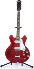 Music Memorabilia:Instruments , 2000s Epiphone Casino Cherry Semi-Hollow Body Electric Serial #U06110224. ...