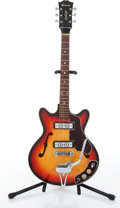 Music Memorabilia:Instruments , 1960s Kawai Sunburst Semi-Hollow Body Electric Guitar No Serial Number. ...