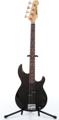 Music Memorabilia:Instruments , 1990s Yamaha Model BB300 Black Electric Bass Guitar Serial #0L24145....
