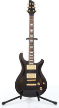 Music Memorabilia:Instruments , 1990s Raven Black Semi-Hollow Body Electric Serial # 011110300....