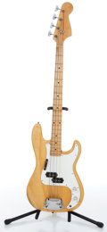 Music Memorabilia:Instruments , 1970s Aria Pro II Fender Precision Copy Natural Electric BassGuitar Serial # K-4647....