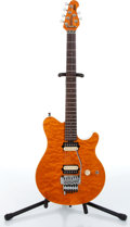 Music Memorabilia:Instruments , 2000s Music Man Ernie Ball Axis Amber Electric Guitar Serial #G00598....