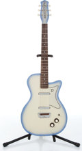 Music Memorabilia:Instruments , 2000s Danelectro U-2 1956 Re-Issue Light Blue Burst ElectricGuitar...