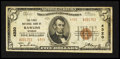 National Bank Notes:Wyoming, Rawlins, WY - $5 1929 Ty. 2 The First NB Ch. # 4320. ...