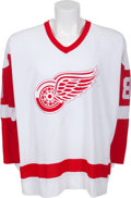 Hockey Collectibles:Uniforms, 1998-99 Igor Larionov Game Worn Detroit Red Wings Stanley CupPlayoffs Jersey....