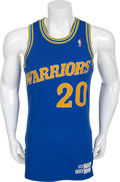Basketball Collectibles:Uniforms, 1988 Terry Teagle Game Worn Golden State Warriors Jersey....