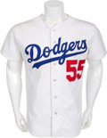 Baseball Collectibles:Uniforms, Circa 1985 Orel Hershiser Game Worn Los Angeles Dodgers Jersey....