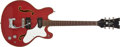 Musical Instruments:Electric Guitars, 1968 Mosrite Celebrity Red Semi-Hollow Electric Guitar, #A0511....