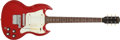 Musical Instruments:Electric Guitars, 1967 Gibson Melody Maker SG Cardinal Red Solid Body Electric Guitar, #004652. ...