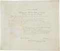 "Autographs:U.S. Presidents, Zachary Taylor Document Signed ""Z. Taylor"" as president. Onepartially-printed page, 17.25"" x 14.5"", ""City of Washingt..."
