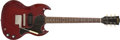 Musical Instruments:Electric Guitars, 1965 Gibson SG Jr Burgundy Solid Body Electric Guitar, #329205. ...