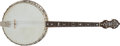 Musical Instruments:Banjos, Mandolins, & Ukes, 1920's Bacon and Day Silver Bell Tenor Dark Stain Tenor Banjo, #N/A....