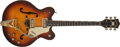 Musical Instruments:Electric Guitars, 1966 Gretsch Viking Sunburst Semi-Hollow Electric Guitar, #96405....