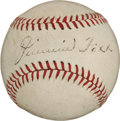 Autographs:Baseballs, Circa 1940 Jimmie Foxx & Connie Mack Signed Baseball....