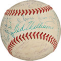 Autographs:Baseballs, 1954 American League All-Star Team Signed Baseball....