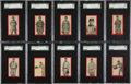 """Baseball Cards:Lots, 1910 T210 """"Old Mill"""" Red Borders Series 1 & 5 Collection (23)...."""