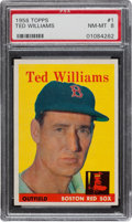 Baseball Cards:Singles (1950-1959), 1958 Topps Ted Williams #1 PSA NM-MT 8....