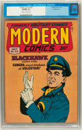Golden Age (1938-1955):War, Modern Comics #63 Double Cover (Quality, 1947) CGC VF/NM 9.0 Creamto off-white pages....