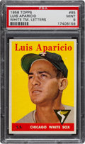 Baseball Cards:Singles (1950-1959), 1958 Topps Luis Aparicio, White Letters #85 PSA Mint 9 - Pop 2 With None Higher! ...