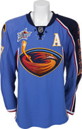Hockey Collectibles:Uniforms, 2007-08 Ilya Kovalchuk Game Worn Atlanta Thrashers Jersey....