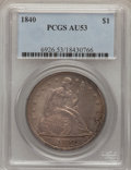 Seated Dollars, 1840 $1 AU53 PCGS....