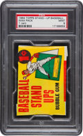 Baseball Cards:Other, 1964 Topps Stand-Up Baseball 1-Cent Unopened Wax Pack PSA Mint 9. ...
