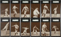 Baseball Cards:Sets, 1907 PC765-2 Dietsche Chicago Cubs SGC-Graded Complete Set (15)....