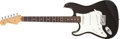 Musical Instruments:Electric Guitars, 1990 Fender Stratocaster Left-Handed Black Electric Guitar, #Z0044904....