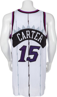 bb6a125684a Basketball Collectibles:Uniforms, 1998-99 Vince Carter Game Worn Toronto  Raptors Jersey.
