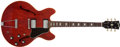 Musical Instruments:Electric Guitars, 1967 Gibson ES-335 TDC Cherry Red Semi-Hollow Body Electric #010249...