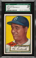 Baseball Cards:Singles (1950-1959), 1952 Topps Roy Campanella #314 SGC 88 NM/MT 8 - Pop 1 With OneHigher! ...