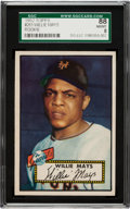 Baseball Cards:Singles (1950-1959), 1952 Topps Willie Mays #261 SGC 88 NM/MT 8 - Pop 3 With One Higher!...