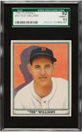Baseball Cards:Singles (1940-1949), 1941 Play Ball Ted Williams #14 SGC 92 NM/MT+ 8.5 - The Finest SGCGraded Example! ...