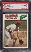 Baseball Cards:Singles (1970-Now), 1977 Topps Cloth Sticker Pete Rose #38 PSA Gem Mint 10....