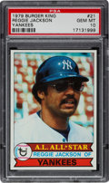 Baseball Cards:Singles (1970-Now), 1979 Burger King Yankees Reggie Jackson #21 PSA Gem Mint 10 - Pop 1! ...