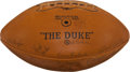 Football Collectibles:Balls, 1961 Green Bay Packers Team Signed Football - Lombardi's First Championship Season!...
