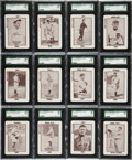 Baseball Cards:Sets, 1913 WG6 Tom Barker High Grade Near Set (51) With Fenway BreweriesBox. ...