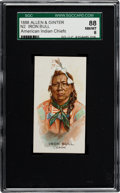 "Non-Sport Cards:Singles (Pre-1950), 1888 N2 Allen & Ginter ""American Indian Chiefs"" Iron Bull SGC88 NM/MT 8 - Finest Example Known!..."