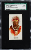 "Non-Sport Cards:Singles (Pre-1950), 1888 N2 Allen & Ginter ""American Indian Chiefs"" Keokuk SGC 88NM/MT 8 - Highest Grade Known!..."