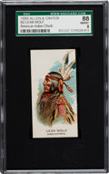 "Non-Sport Cards:Singles (Pre-1950), 1888 N2 Allen & Ginter ""American Indian Chiefs"" Lean Wolf SGC88 NM/MT 8 - Finest Example Known!..."
