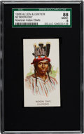"Non-Sport Cards:Singles (Pre-1950), 1888 N2 Allen & Ginter ""American Indian Chiefs"" Noon Day SGC 88NM/MT 8 - Highest Grade Known!..."