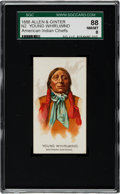"Non-Sport Cards:Singles (Pre-1950), 1888 N2 Allen & Ginter ""American Indian Chiefs"" Young WhirlwindSGC 88 NM/MT 8 - The Finest Known!..."