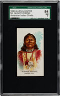 """Non-Sport Cards:Singles (Pre-1950), 1888 N2 Allen & Ginter """"American Indian Chiefs"""" Always RidingSGC 84 NM 7 - Highest Grade Known!..."""